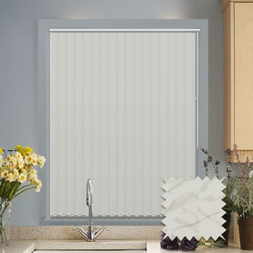 Made to Measure Vertical Blinds in PVC Blackout fabric in Picasso Cream